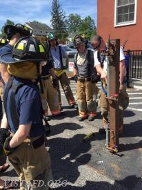"""FF Sean Kelly reviewing the """"through the lock"""" forcible entry method"""