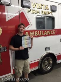 Probationary EMT Candidate Sean Kaplan