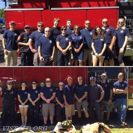 The Vista Fire Department standby crews for the 2017 Stevens UMC Antiques Fair