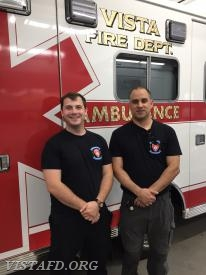 Foreman Mike Canil and FF/EMT Candidate Dan Castelhano
