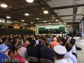 The Firefighter I and Firefighter Survival graduation was held inside the Westchester County Fire Training Center in Valhalla, NY
