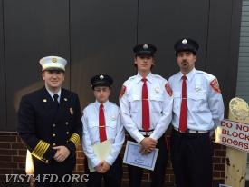Chief Jeff Peck, Firefighter Ryan Ruggiero, Firefighter Patrick Healy and Foreman Adam Bartley