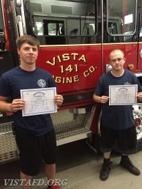 Firefighter Patrick Blasco and Firefighter Ryan Ruggiero