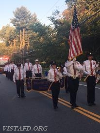 The Vista Fire Department marching in the 2017 South Salem Fire Department Parade