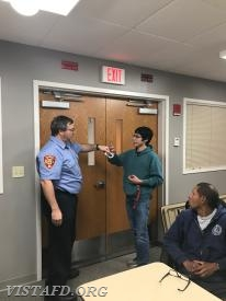 District Manager Ritchey reviews how to disable a door from the inside to make it inaccessible for a perpetrator