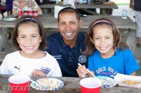 Lt. Wilmer Cervantes and his family during the 2017 Fall Family Picnic (Photo Credit: Jamie Kaplan)