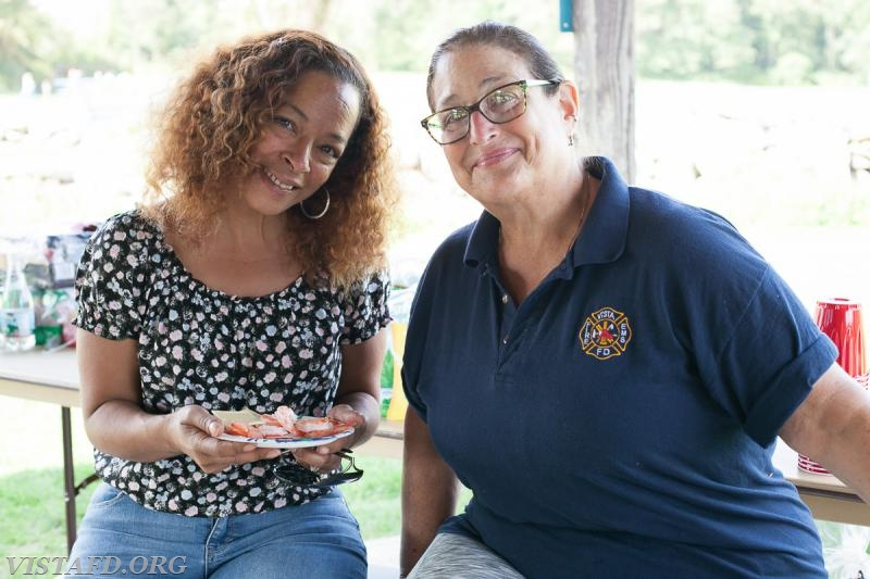 Auxiliary member Dolores Pastrana and EMT Leslie Smith (Photo Credit: Jamie Kaplan)