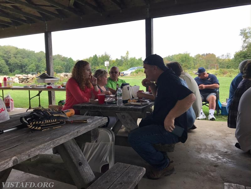 Vista Fire Department & Auxiliary members enjoying the 2017 Fall Family Picnic