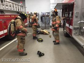 Our Firefighter Fundamentals students practicing putting on their Firefighting gear
