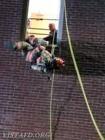 Vista Firefighters performing bailout techniques