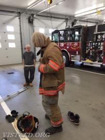 "Firefighter/EMT Sean Kaplan performing a ""2-minute drill"" during ""Firefighter Fundamentals Class"""