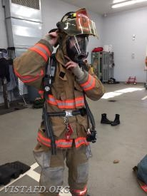"Firefighter/EMT Sean Kaplan performing a ""2-minute drill"" during ""Firefighter Fundamentals Class"""