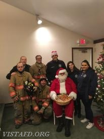 "The Vista Fire Department with Santa Claus at the 2017 Stevens UMC ""Christmas For All Event"""