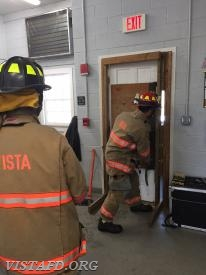 "Lt. Phil Katz going over Forcible Entry during ""MPO & Firefighter Fundamentals Class"""