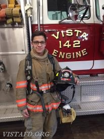 Firefighter Adam Ferman