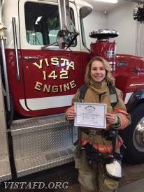 Probationary Firefighter/EMT Candidate Elly Hersam