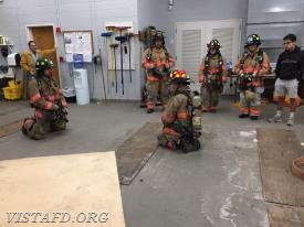 Lt. Phil Katz going over the SCBA with our Firefighters
