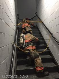 Lt. Phil Katz & FF Dom Mangone going through the SCBA operations course