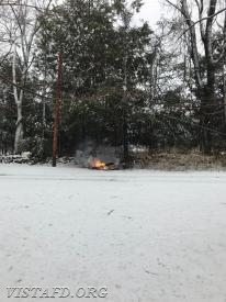 "Downed power lines during ""Winter Storm Riley"""