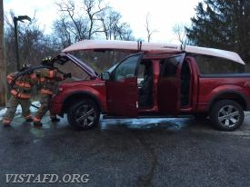 "Motor Vehicle Fire on Smith Ridge Road during ""Winter Storm Riley"""