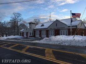 """The calm after the storm"" outside the Vista Firehouse following ""Winter Storm Quinn"""