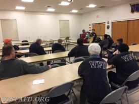 Foreman Karen Lilly reviewing how to use the Lucas 2 electric CPR device