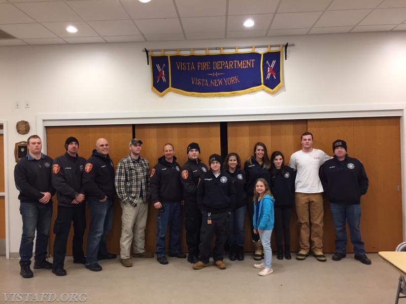 "The Vista Fire Department's ""Winter Storm Toby"" response crew"
