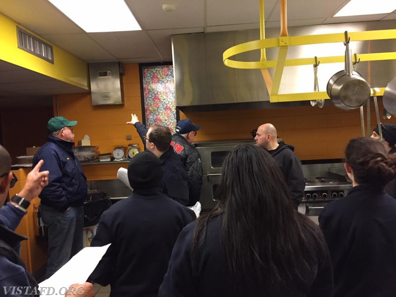 Lt. Brian Porco leading our members through a walkthrough of Meadow Pond Elementary School