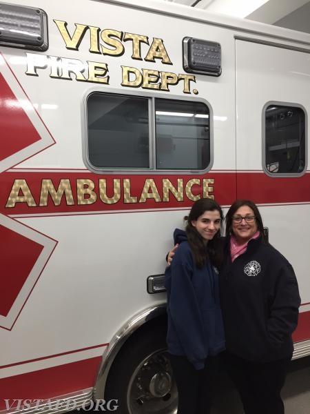 EMT Candidate Jasmine Lilly and her mentor, EMT Leslie Smith