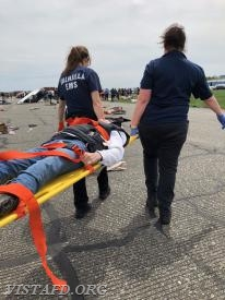 "Vista EMS personnel participating in the ""Westchester County Airport Full-Scale Exercise"""