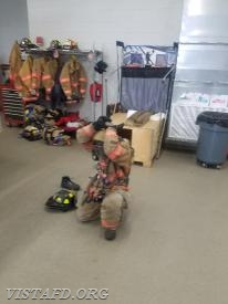 "FF Dom Mangone conducting a ""2-minute drill"" during ""MPO & Firefighter Fundamentals Class"""