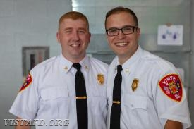 Asst. Chief Mike Peck and Capt. Brian Porco