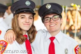 Foreman Karen Lilly and EMT Candidate Jasmine Lilly