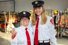 Foreman Karen Lilly and EMT Candidate Isabel Fry