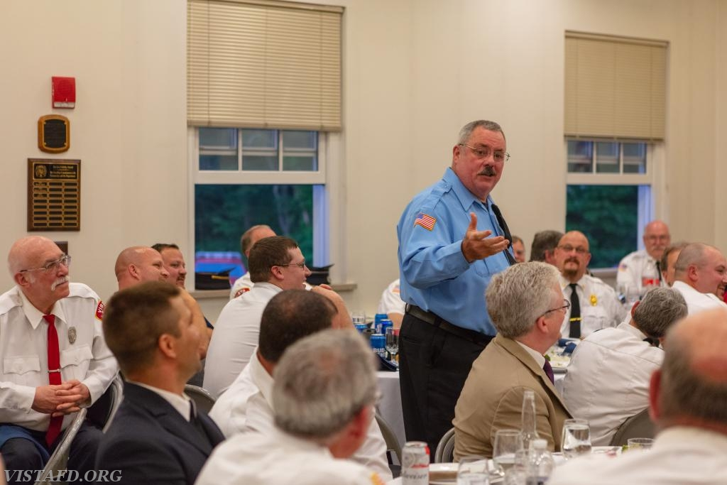 Pound Ridge Firefighter Dave Russell at the 2018 Vista Fire Department Annual Inspection Dinner