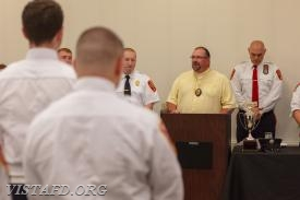 Vista Fire Department Chaplain Pastor Michael Barry at the 2018 Annual Inspection Dinner