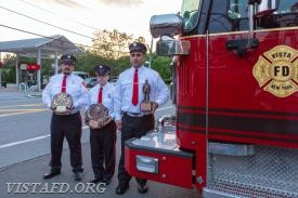 EMT of the Year: EMT Greg Pastrana, Firefighter of the Year: FF Ryan Ruggiero & Rookie of the Year: Foreman Dan Castelhano