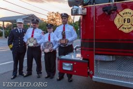 Chief Jeff Peck, EMT of the Year: EMT Greg Pastrana, Firefighter of the Year: FF Ryan Ruggiero & Rookie of the Year: Foreman Dan Castelhano