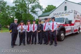 The 84B1 crew with Chief Jeff Peck after winning the Best Ambulance Trophy