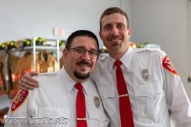 EMT Greg Pastrana and Foreman Adam Bartley