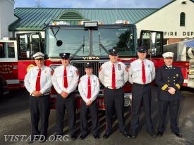 Engine 141 crew: Ex-Chief Bill Dingee, FF Sean Kelly, FF Ryan Ruggiero, Lead Foreman Marc Baiocco, Probationary FF Dan Gjodesen & Asst. Chief Mike Peck
