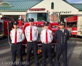 Tanker 4 crew: FF Eric Lavelanet, Foreman Adam Bartley, Probationary FF Ethan Haberny & Lt. Wilmer Cervantes