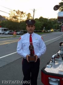 The 2017-2018 Vista Fire Department Rookie of the Year: Foreman Dan Castelhano