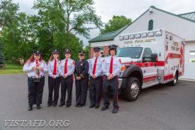 The Ambulance 84B1 crew with the Best Ambulance trophy