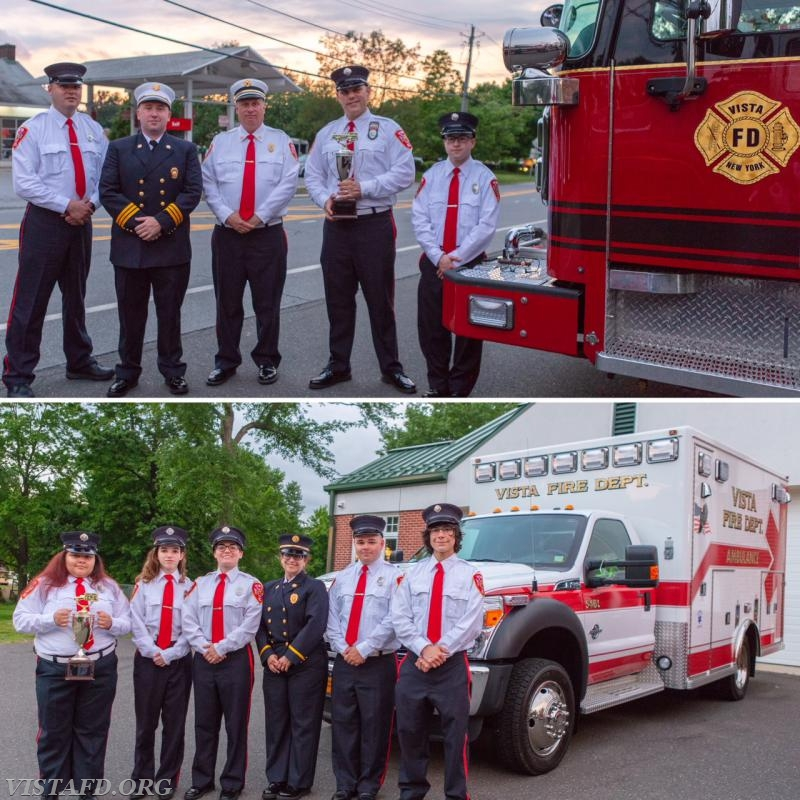 The Engine 141 & Ambulance 84B1 crews won the Best Apparatus trophies at the 2018 Vista FD Annual Dinner