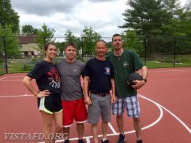 Platoon 4 (Probationary FF Olivia Buzzeo, FF Patrick Blasco, Lt. Phil Katz & Foreman Adam Bartley)