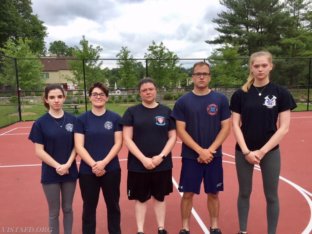 Platoon 2 (EMT Candidate Jasmine Lilly, Foreman Karen Lilly, Lt. Allie Fisher, Capt. Brian Porco & EMT Candidate Isabel Fry)