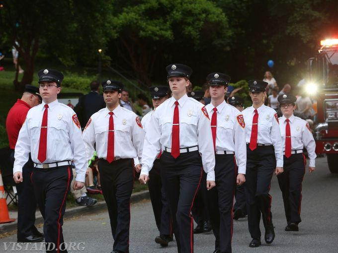 The Vista Fire Department marching in the 2018 Katonah Fire Department Parade (Photo courtesy of Lohud.com)