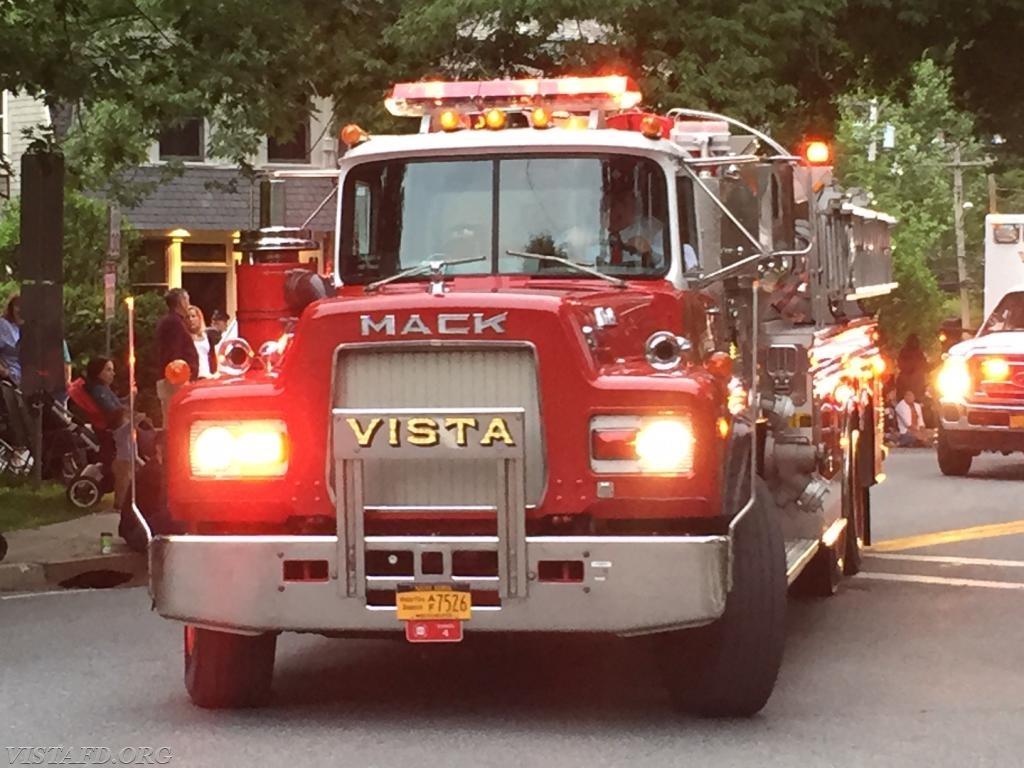Vista Tanker 4 in the 2018 Katonah Fire Department Parade