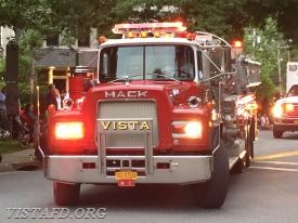 Vista Tanker 4 in the 2018 Katonah Fire Department Parade